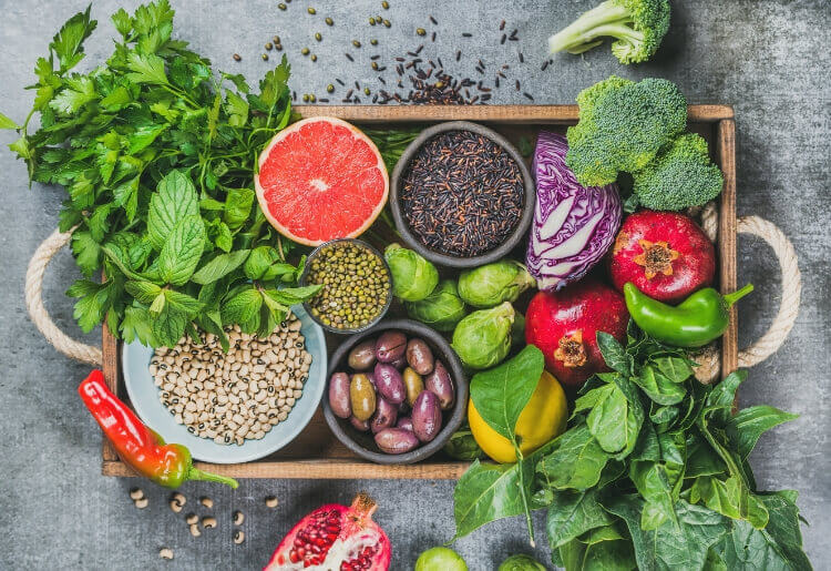 Vegetables, fruit, seeds, cereals, beans, spices, superfoods and herbs are all part of clean eating