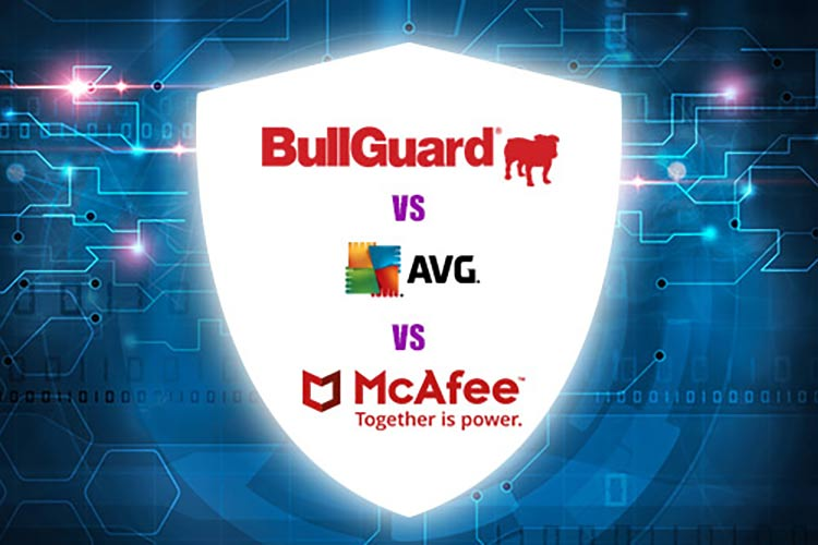 Antivirus Software Comparison: Bullguard, AVG and McAfee