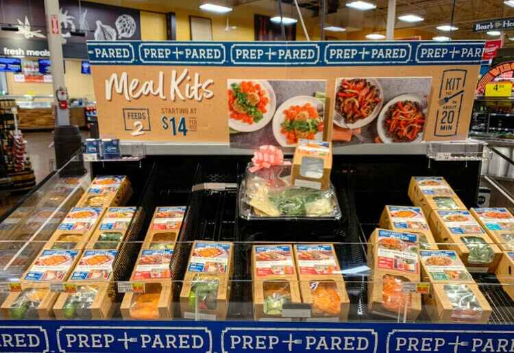 Meal kit customers can collect the meals while they do their regular grocery shopping.