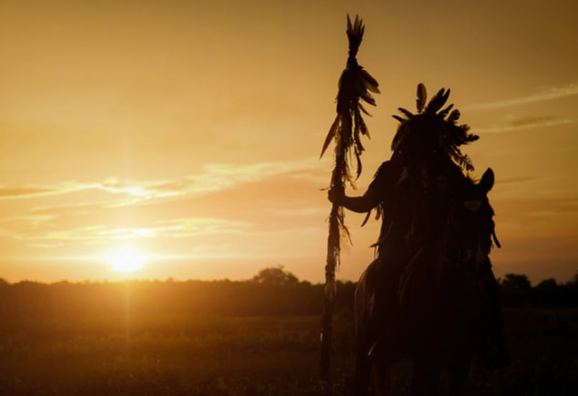 Native American sunset