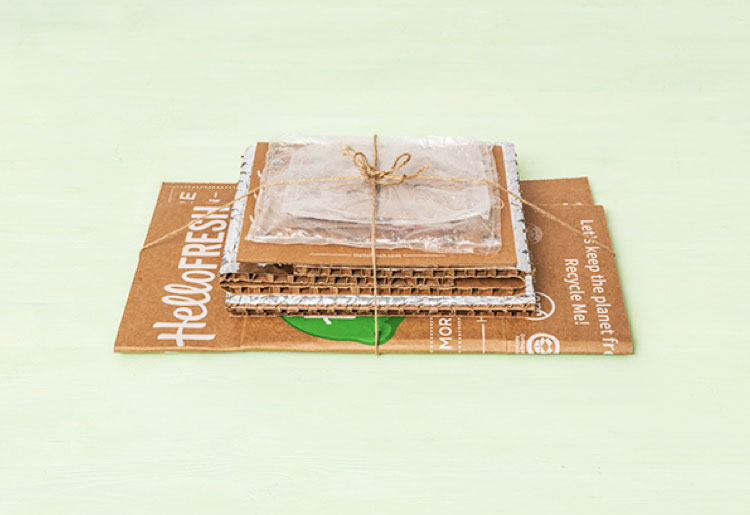 HelloFresh recyclable packaging