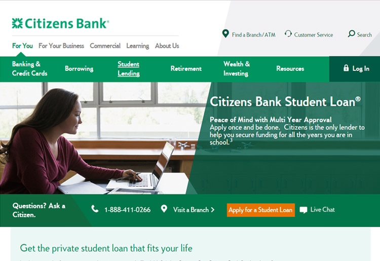 Citizens Bank Homepage