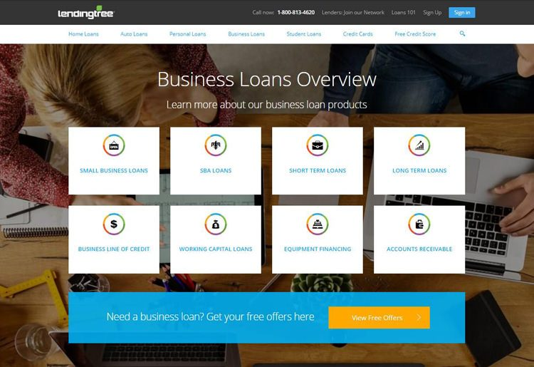 LendingTree Business Loan Products