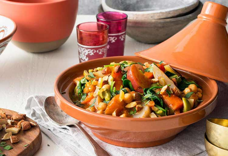 Vegan, Moroccan root vegetable and chickpea tagine by Sun Basket