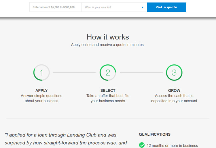 Lending Club Application Process
