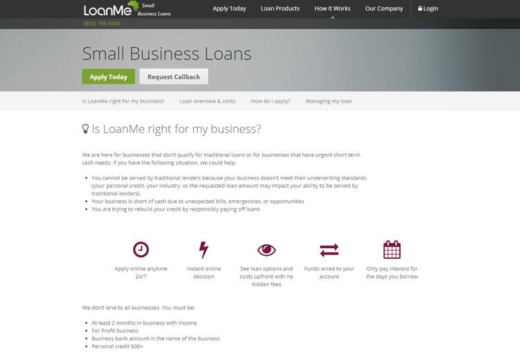 LoanMe Loan Info