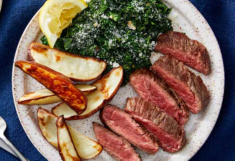 Blue Apron Review - Seared steaks