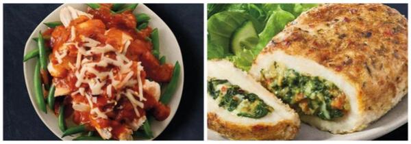 South Beach Diet chicken and stuffed chicken breast