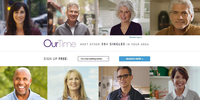 OurTime signup