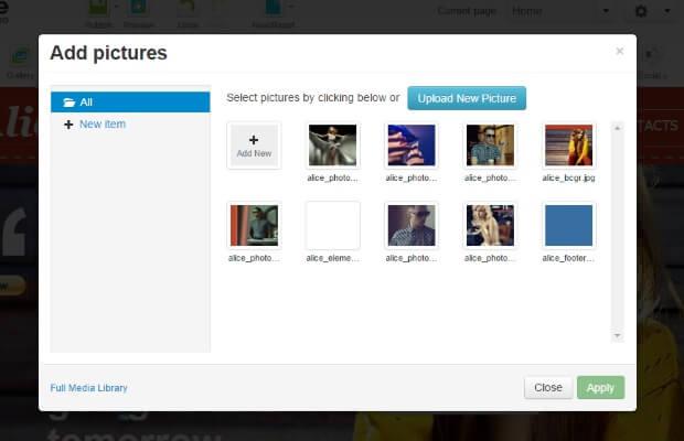 Sitepro image gallary