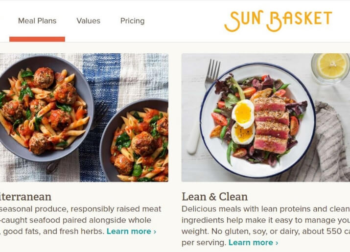 Sun Basket meals suitable for soy allergies