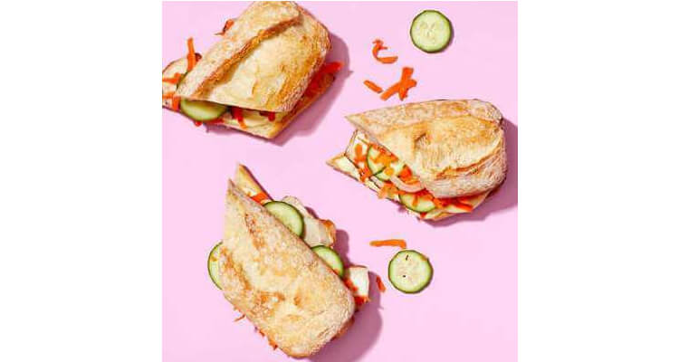 Pork Banh Mi Sandwiches with Pickled Cucumbers & Carrots