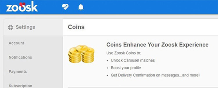 Boost your profile with Zoosk coins