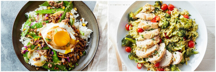 Plated recipes