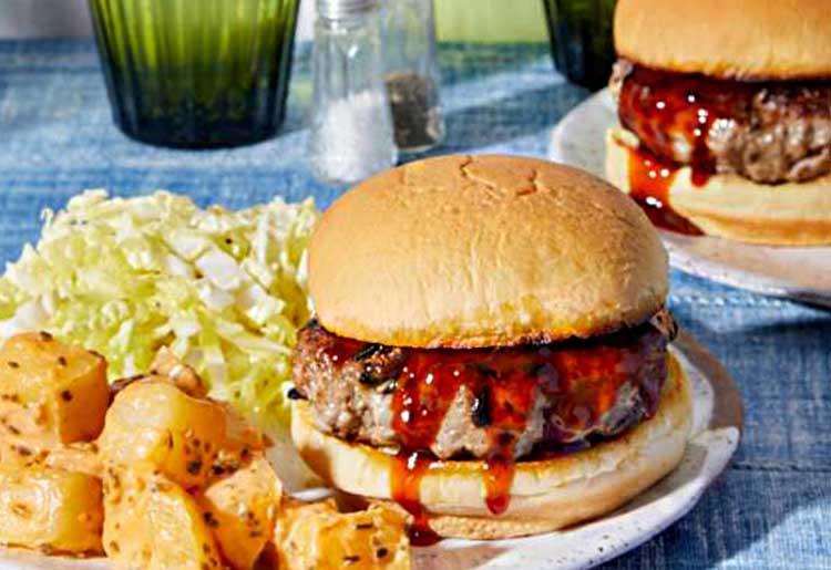 Blue Apron burger recipe