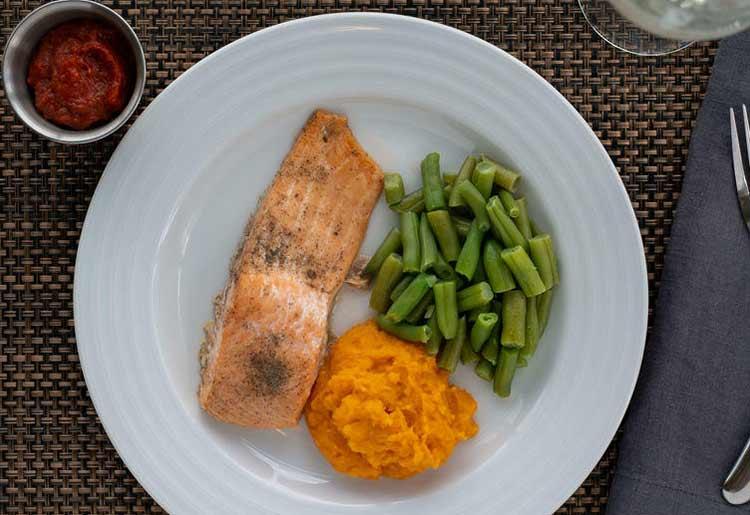 Ready to eat salmon dish