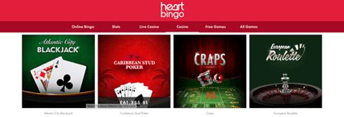 Heart Bingo - poker games