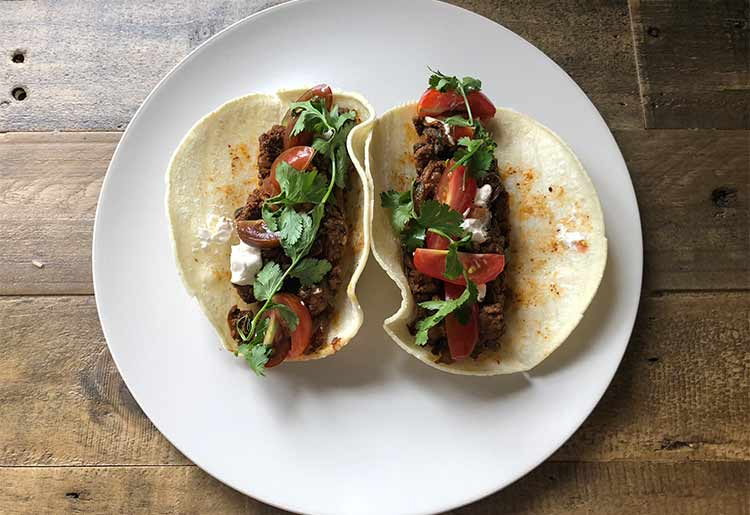HelloFresh's taco meal