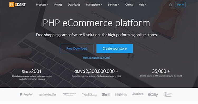 x-cart php ecommerce