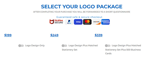 The Logo Company - Pricing