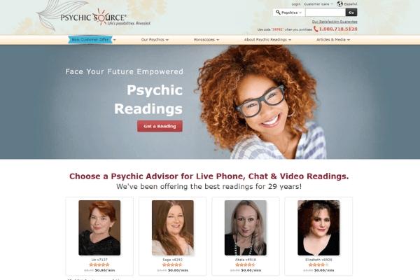 Psychic source screenshot