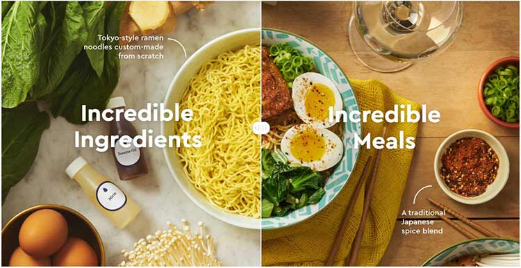 Try incredible meals made from incredible ingredients