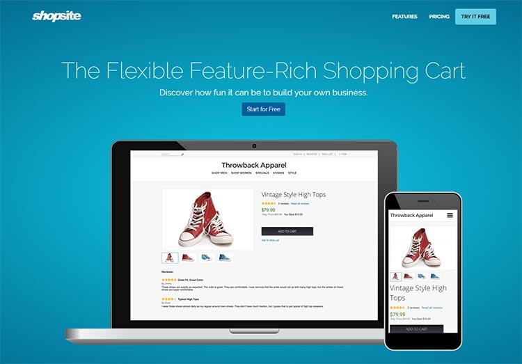 Shopsite website