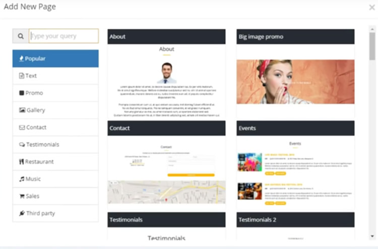 Site123 site builder dashboard