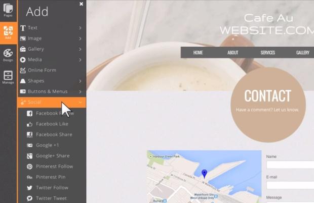 Websitecom dashboard