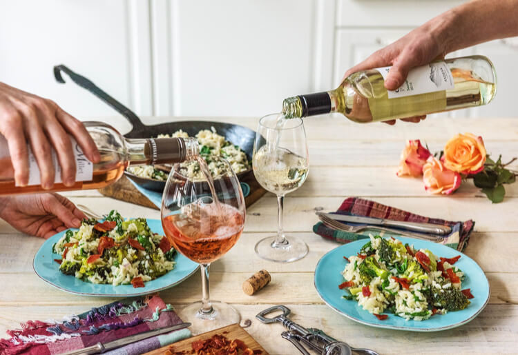 HelloFresh meal delivery wine pairings