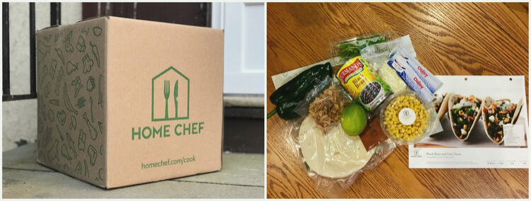 Home Chef box, unboxing, and ingredients