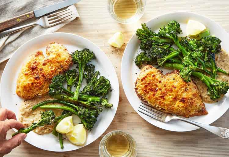 Chicken with Roasted Broccolini