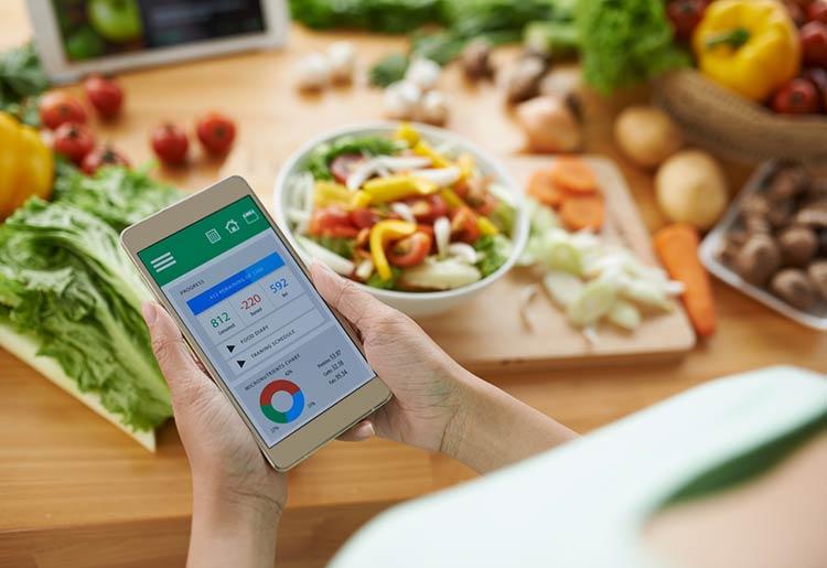 Mobile app for diet