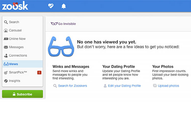 Zoosk: It's easy to set up your profile